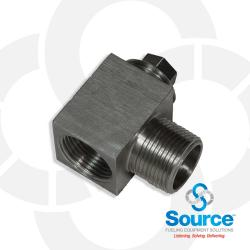 1 Inch NPT Stainless Steel Horizontal Priming Tee With Plug