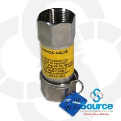 1 Inch NPT Stainless Steel Inline Anti-Siphon Valve With Thermal Expansion Relief, 5-10 Foot W.C.