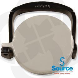 4 Inch Low Profile Grey Fill Adapter Cap