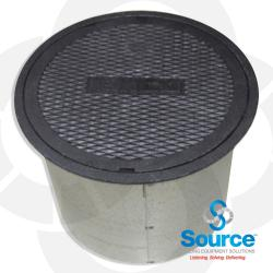 Round Manhole 12 Inch X 12 Inch Lay-In Cast Iron Lid Steel Skirt