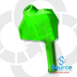 Green 11B Series Newgard 1-Piece Style Full Hand Insulator Nozzle Scuff Guard, Without Splash Guard