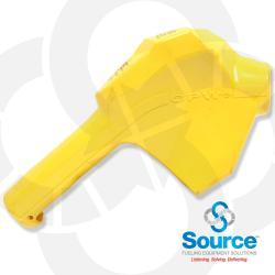 Yellow 11B Series Newgard 1-Piece Style Full Hand Insulator Nozzle Scuff Guard, Without Splash Guard