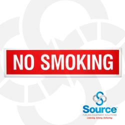 3 Inch X 12 Inch Decal White On Red - No Smoking