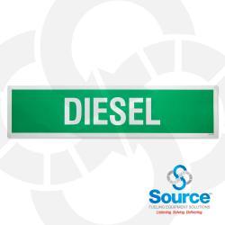 3 Inch X 12 Inch Decal, White Text/Green Background, Diesel