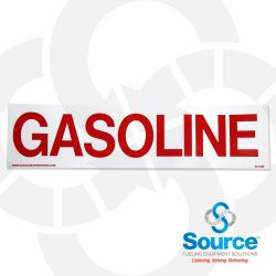 3 Inch X 12 Inch Decal, Red/White, Gasoline