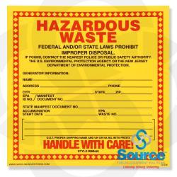 Decal - Hazardous Waste