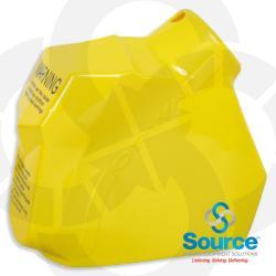 Yellow 11B Series Newgard 2-Piece Style Nozzle Scuff Guard, Without Barrel Hand Insulator Or Fillgard Splash Guard