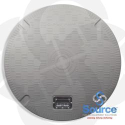 39-1/2 Inch Opw Conquistador Composite Plain Cover With Recess Handle Grey