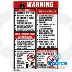 7-3/4 Inch X 12 Inch Decal -Warning