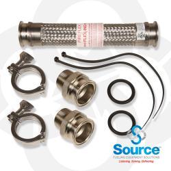 1-1/2 Inch Diameter Fireflex Connector With 1-1/2 Inch EZ Fit Hex Male X 1-1/2 Inch EZ Fit Hex Male 18 Inch Length