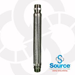 2 Inch Diameter Fireflex Connector With 2 Inch Hex Male X 2 Inch Male Swivel 24 Inch Length