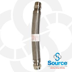 2 Inch Diameter Fireflex Connector With 2 Inch Male Swivel X 2 Inch Hex Female 24 Inch Length