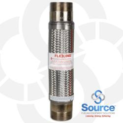 3 Inch Diameter Fireflex Connector With 3 Inch Male X 3 Inch Male 18 Inch Length