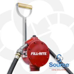 Piston Hand Pump 3/4 Inch X 8 Foot NPT Hose Telescoping Steel Suction Pipe Nozzle Spout
