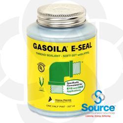 1/2 Pint Brush-Top Gasoila E-Seal Soft-Set Thread Sealant With PTFE
