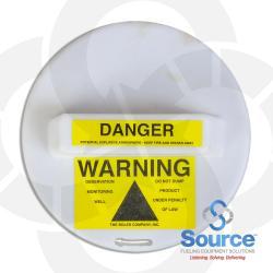 9 Inch Locking Monitoring Well Warning Cap
