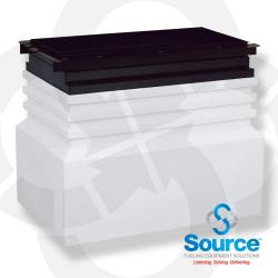 40 Inch x 26 Inch x 28 Inch Tall Medium Burial Large Mouth Singlewall Polyethylene Dispenser Sump With 36 Inch x 17 Inch Conduitless Powder-Coated Steel Top Frame