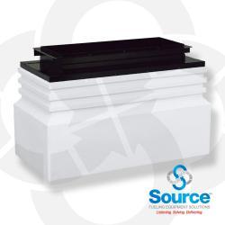 52 Inch x 26 Inch x 28 Inch Tall Medium Burial Large Mouth Singlewall Polyethylene Dispenser Sump With 41-1/2 Inch x 11 Inch Powder-Coated Steel Top Frame