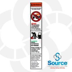 Static Safety Instruction Decal Encore (R60032-08)