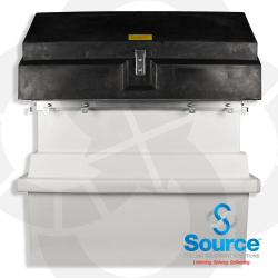Two Piece Polyethylene Transition Sump With Polyethylene Top 46 Inches High