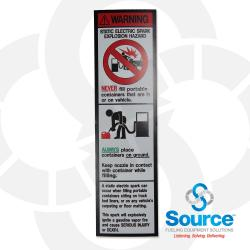 2-1/2 Inch X 9 Inch Decal Static Electric Spark Warning
