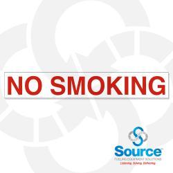 25 Inch X 4 Inch Decal No Smoking